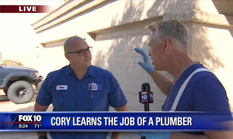 Adam Kinder w/ Rooter Hero Plumbing Phoenix on FOX NEWS 10 Phoenix