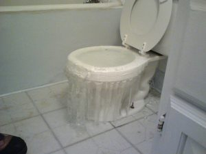 the toilet overflows