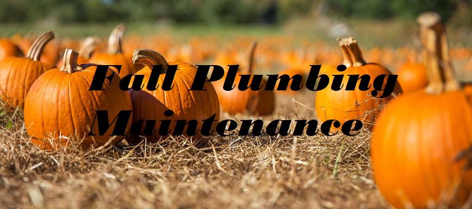 fall plumbing maintenance